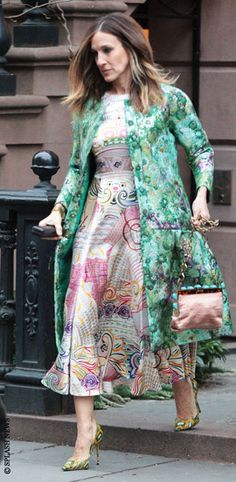Sarah Jessica Parker- THAT'S how you mix prints!!!