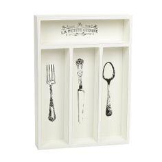 Cream wooden 'La Petite Cuisine' cutlery tray - Dinnerware - Debenhams.com