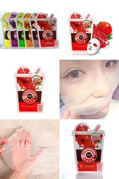 [Visit to Buy] Fruity Series Face Mask Sheet Pack Essence Collagen Moisture Facial Care Mask Hot #Advertisement