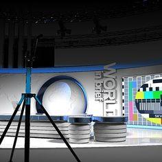 virtual tv studio set 3d model - Virtual TV Studio Set 7.News... by 3DLocker