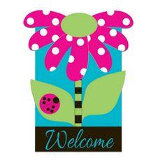 Evergreen Enterprises - Welcome Daisy Sculpted Garden Flag