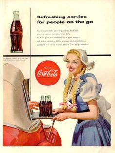Coke Coca Cola Car Hop Server Waitress (1954)