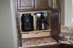 InnerMost Customer Kitchens - kitchen cabinets - chicago - Innermost Cabinets. hidden coffee station