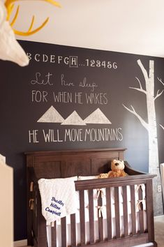 Omg I love this saying for over Thane's bed! With the trees too!