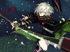 Green as Lotus Manga Art, Manga Anime, Mutsunokami Yoshiyuki, Touken Ranbu, Illustration, Pictures, Lotus, Characters, Green