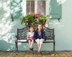 Beautiful sisters in downtown Charleston   Charleston Family Photography   #charlestonfamilyphotographer #charleston #siblings