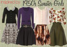 La Petite Fashionista: Inspired by: 50's Sweater Girls