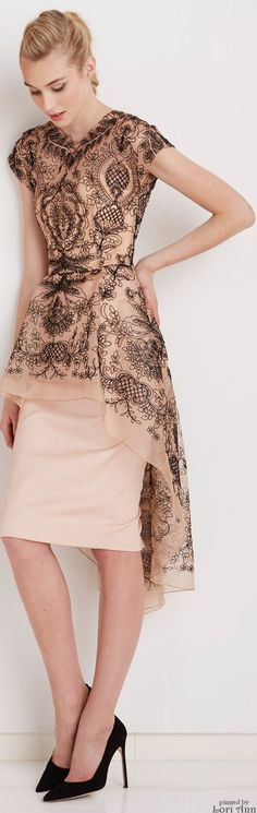Cocktail Dress / karen cox. Lela Rose Pre-Fall 2015