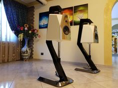 AMULET - small speaker with great sound. Small Speakers, Diy Speakers, Wireless Speakers, Floor Standing Speakers, Audiophile Speakers, Speaker Stands, Speaker Design, Loudspeaker, Electronics Gadgets