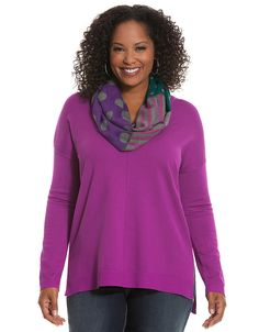Womens plus center seam pullover sweater by Lane Bryant | Lane Bryant