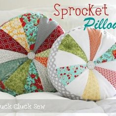 diy patchwork pillows made from feed sack prints  #countryliving #dreamporch