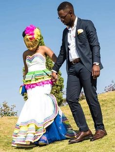 Sepedi Traditional Wedding Dresses 2020 attires with the worth range that you'll determine here is traditional African wear. Pedi Traditional Attire, Sepedi Traditional Dresses, South African Traditional Dresses, African Bridal Dress, African Dress, African Attire, African Wear, Wedding Dress Patterns, Dress Attire