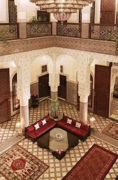 Photo Gallery for Riad Fes in Fez - Morocco Moroccan Art, Moroccan Interiors, Moroccan Design, Moroccan Style, Riad Fez, Le Riad, Riad Marrakech, Marrakesh, Lobby Interior