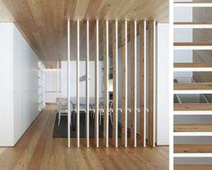 separar-ambientes-panel-lamas-madera Diy Home Repair, Reception Rooms, Interior Design, Furniture, Home Decor, Ideas, Dividers, Fence, Minimal