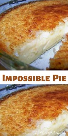 This Impossible Pie has got to be one of the easiest and most delicious dessert pie recipes I've ever tried! And when I say easy, I mean EASY. Mix everything up, place in the oven, and wait. It makes it's own crust. Coconut Desserts, Coconut Recipes, Tart Recipes, Easy Desserts, Delicious Desserts, Southern Desserts, Easy Coconut Custard Pie Recipe, Crustless Coconut Pie Recipe, Coconut Tart