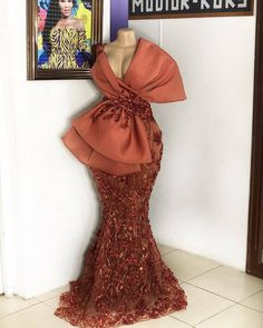🧡🧡🧡🧡🧡🧡one word plz . Dress Fabric: share your fab… African Fashion Ankara, Latest African Fashion Dresses, African Inspired Fashion, African Print Fashion, African Lace Styles, African Lace Dresses, African Wedding Attire, African Attire, Lace Gown Styles