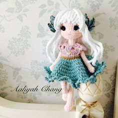 月兔耳女孩 #月兔耳 #dolls #crochetdoll #amigurumi #craft #handmade #毛線娃娃 #編織 #編みぐるみ #手作り #人形娃娃 #mycreative_world