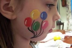 Easy Face Painting Design and Instruction for Beginners