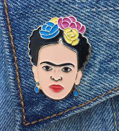 Frida, Pin di Frida Kahlo, Soft smalto Pin, gioielli, arte, artista, regalo (PIN7)