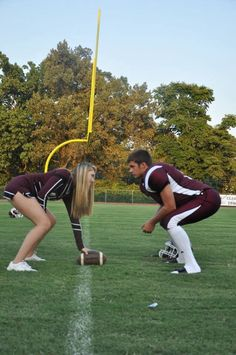 Cute picture idea for cheerleader and football player couple!