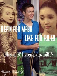 Who will Lucas be with? Repin for Maya - Like for Riley  edit made by me!! | ~follow me: Pinterest @gmeetsworld ~ |