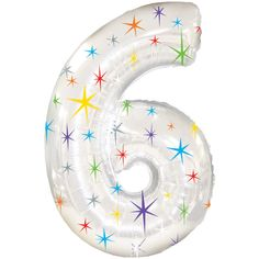 Number Balloons - Birthday - Party Balloons - Photo Props - Anniversary - Birthday - Six Balloon - Jumbo Balloon - 6 Helium Filled Balloons, Number Balloons, Mylar Balloons, Birthday Party Celebration, 6th Birthday Parties, 60th Birthday, Birthday Balloons, Birthday Decorations, 6 Years