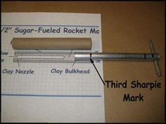 sugar rocket tooling with alignment mark on rammer Survival Project, Survival Tips, Survival Skills, Sugar Rocket, Water Rocket, Build A Rocket, Diy Rocket, Stem Projects, Science Projects