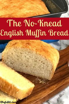 the no-knead, yeasty, chewy loaf of bread you will want to make again and again. Side Dishes Easy, Side Dish Recipes, Bread Recipes, Dinner Recipes, English Muffin Bread, Homemade English Muffins, Cobb Loaf, Peasant Bread, Bread Maker Machine