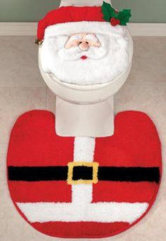 Decoración de Baños de Navidad1 Christmas Time, Merry Christmas, Xmas, Christmas Bathroom Sets, Ideas Para, Ideas Navideñas, Toilet Paper, Decoupage, Holiday Decor