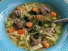 Tiny meatballs are the trick to making this soup authentically Dutch or Friesan. Amish Recipes, Dutch Recipes, Easy Soup Recipes, Vegetable Recipes, Cooking Recipes, Croatian Recipes, Hungarian Recipes, Supper Recipes, Cleaning Recipes