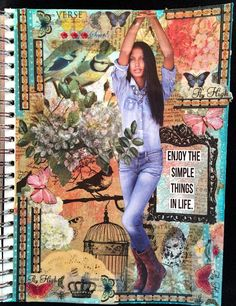 **Fun look for cards** CREATIVITY IS CONTAGIOUS: MAGAZINE PEOPLE ART JOURNAL PAGES