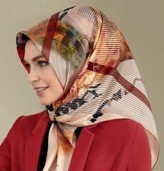 Current season Armine Turkish Silk Hijab Scarves from designer brand Armine's Spring Summer 2017 Collection. Fall Scarves, Pink Scarves, Scarf Styles, Hijab Styles, Turkish Fashion, Hijab Tutorial, Beautiful Hijab, Pashmina Scarf, Muslim Women