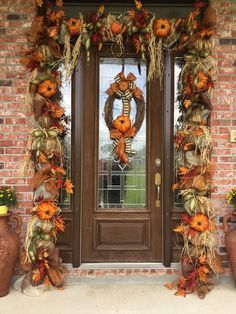 Fall Mesh Garland, Fall Deco Mesh, Fall Swags, Christmas Swags, Leaf Garland, Fall Wreaths, Christmas Door, Door Wreaths, Blue Christmas