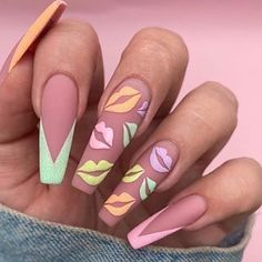 70 Stunning Spring Nails 2020 Designs We've rounded up some amazing spring nails designs for Winter is gradually going and it is time to live the winter nails and start Summer Acrylic Nails, Best Acrylic Nails, Nail Swag, Cute Acrylic Nail Designs, Nail Art Designs, Nails Design, Best Nail Designs, Winter Nails, Spring Nails