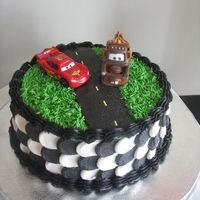 Cars Cake with Tow Mater & Lightning