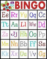 ABC's Bingo- free printable!