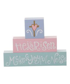 "Loving this ""He is Risen"" Block Sign on #zulily! #zulilyfinds"