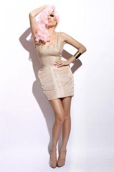 Shop this look on Kaleidoscope (dress, cuff, pumps)  http://kalei.do/W7eWmAdRvauAbdtt