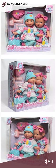 Celebrating twins brass key dolls Collectors. Best seller! Sold out of sams club and Walmart! This is the love birds edition. Box was opened briefly but never used! Keepsakes! 15 inch dolls. 22 piece accessories. Brass Key Other