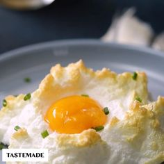 Wake up to happy clouds of light, fluffy egg whites filled with a perfectly runny yolk center.