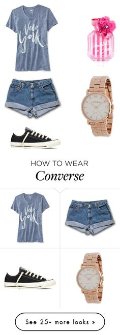 """Casual"" by maddiemomo987 on Polyvore featuring Old Navy, Converse, Victoria's Secret and Marc Jacobs"