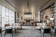 hotel lobby The latest luxurious trends for your n - hotel Modern Hotel Lobby, Hotel Lobby Design, Lobby Interior, Luxury Interior, Interior Design, Hotel Lounge, Lobby Lounge, Lobby Bar, Office Lounge