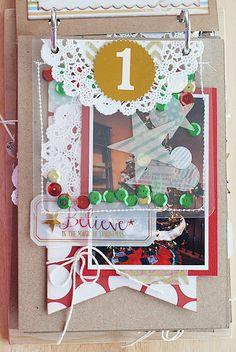 Flip up mini album Christmas Mini Albums, Christmas Journal, Christmas Scrapbook, Christmas Minis, Christmas Art, Christmas Photos, All Things Christmas, Handmade Christmas, December Daily