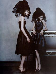 Solange Wilvert and Vlada Roslyakova by Steven Klein for Vogue Paris