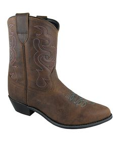 Brown Oil Juliet Leather Cowboy Boot :: Smoky Mountain Boots :: $78.00