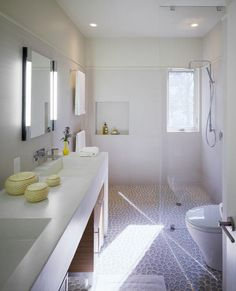 I love the pebble floor. Great for non slip in a cabana bath. Modern Shower, Modern Bathroom, Open Baths, Bathroom Inspiration, Bathroom Ideas, Bath Ideas, Shower Ideas, Design Inspiration, Pebble Floor