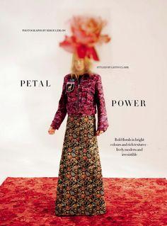 """Petal Power"" Maja Salamon for Harper's Bazaar UK October 2016"