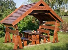 It really is delightful what these folks did with this concept and plan. What an impressive approach for a Pergola, Diy Gazebo, Hot Tub Gazebo, Garden Structures, Outdoor Structures, Cool Sheds, Large Gazebo, Wooden Arbor, Wooden Patios
