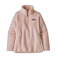 The Patagonia Girls' Los Gatos pullover fights the chill with comfortable polyester recycled) high-pile, double-faced fleece. Patagonia Outfit, Patagonia Pullover, Patagonia Jacket, Pullover Outfit, Cute Jackets, Cute Outfits, Trendy Outfits, Lazy Outfits, Girly Outfits