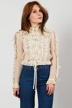 70s Cream Lace & Crochet